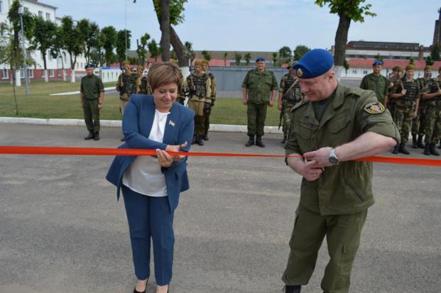Открытие учебно-тренировочного комплекса по боевому обеспечению на базе 14 отдельного ордена Красной Звезды полка правительственной связи КГБ Республики Беларусь